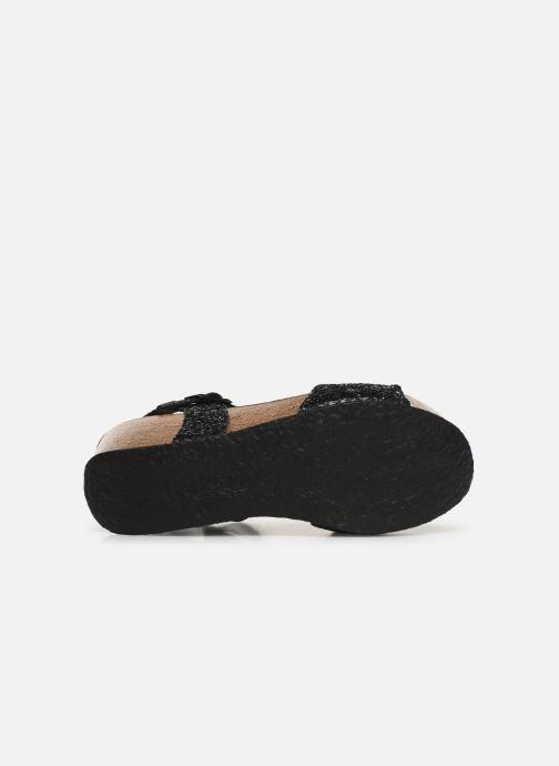 Sandales et nu-pieds Bayton Maya Noir vue haut