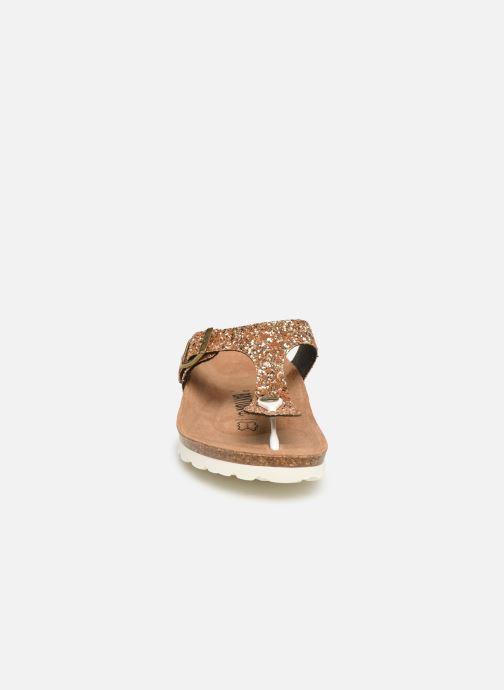 Mules et sabots Bayton Mercure W Or et bronze vue portées chaussures