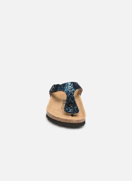 Mules et sabots Bayton Mercure W Bleu vue portées chaussures