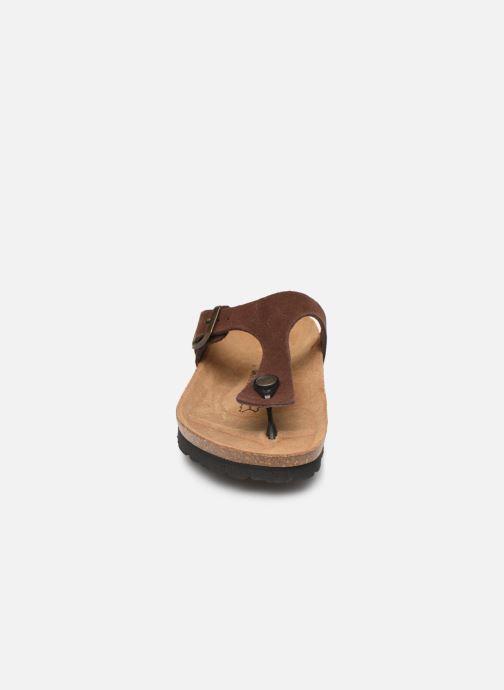Mules et sabots Bayton Mercure W Marron vue portées chaussures