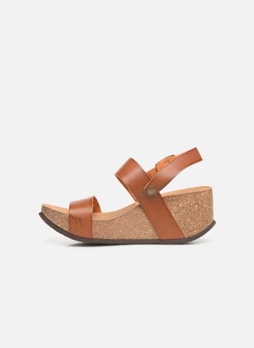 Sandales et nu-pieds Bayton Selene Marron vue face