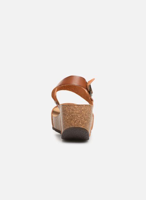 Sandales et nu-pieds Bayton Selene Marron vue droite
