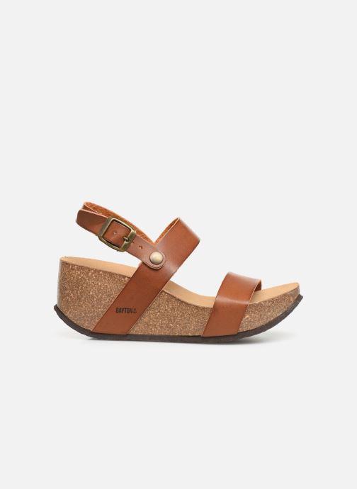 Sandales et nu-pieds Bayton Selene Marron vue derrière