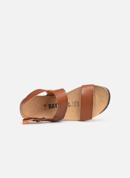 Sandales et nu-pieds Bayton Selene Marron vue gauche
