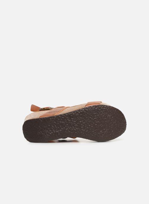 Sandales et nu-pieds Bayton Selene Marron vue haut