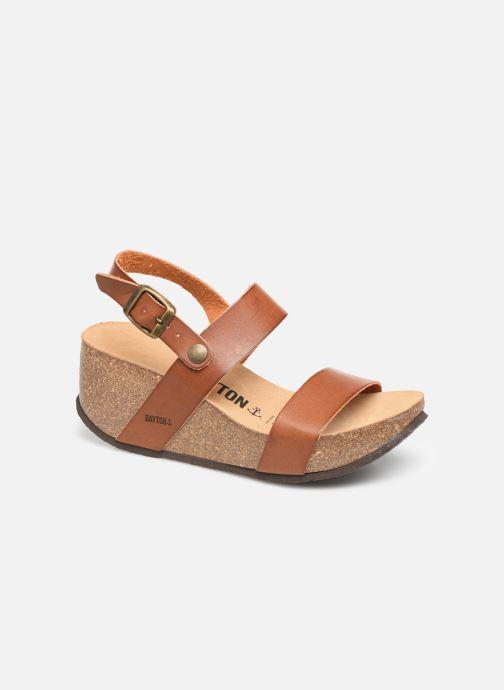 Sandales et nu-pieds Bayton Selene Marron vue détail/paire
