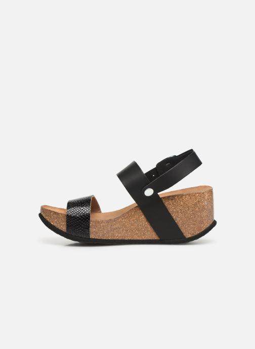 Sandales et nu-pieds Bayton Selene Noir vue face