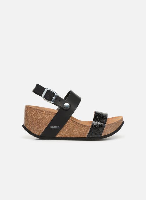 Sandales et nu-pieds Bayton Selene Noir vue derrière