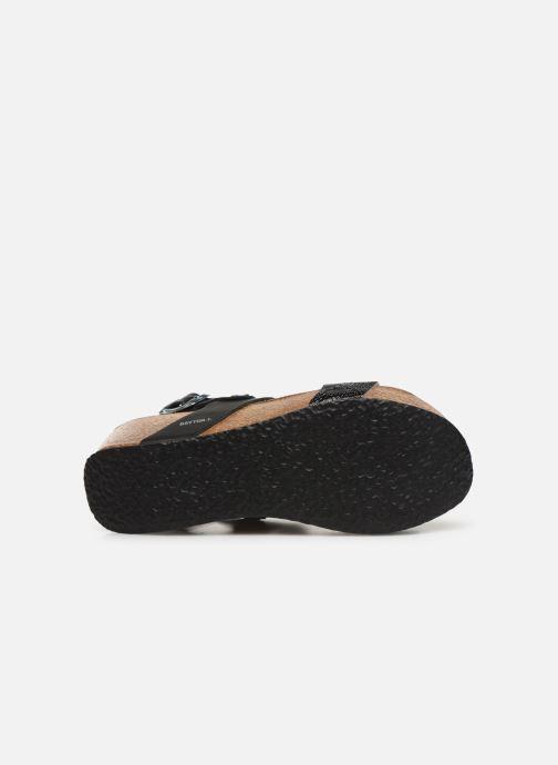 Sandales et nu-pieds Bayton Selene Noir vue haut
