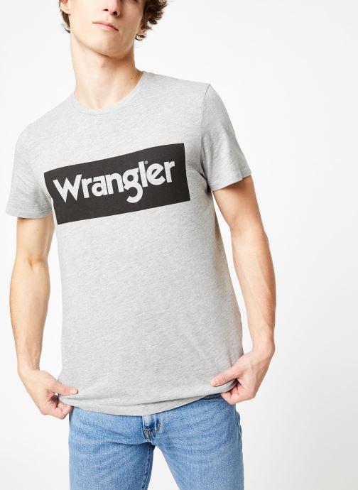 Vêtements Wrangler SS LOGO TEE Gris vue détail/paire