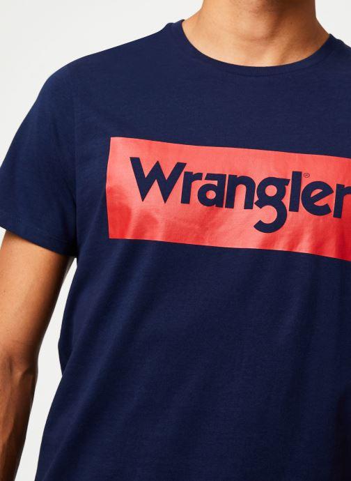 Wrangler T-shirt - SS LOGO TEE (Bleu) - Vêtements chez Sarenza (394911) OJIjb