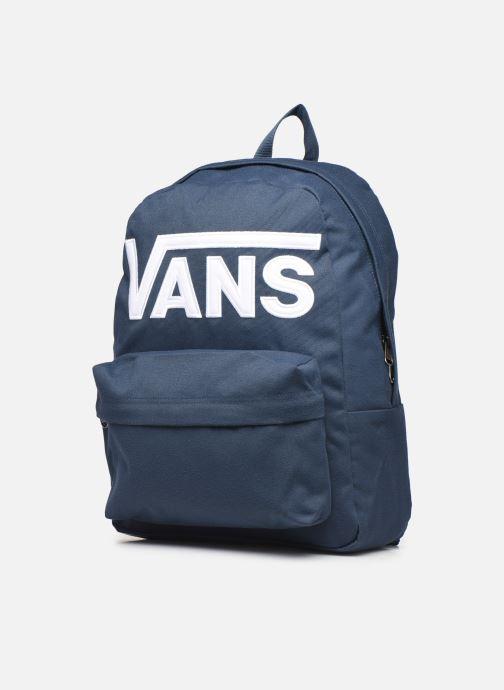 Rucksäcke Vans OLD SKOOL III blau schuhe getragen
