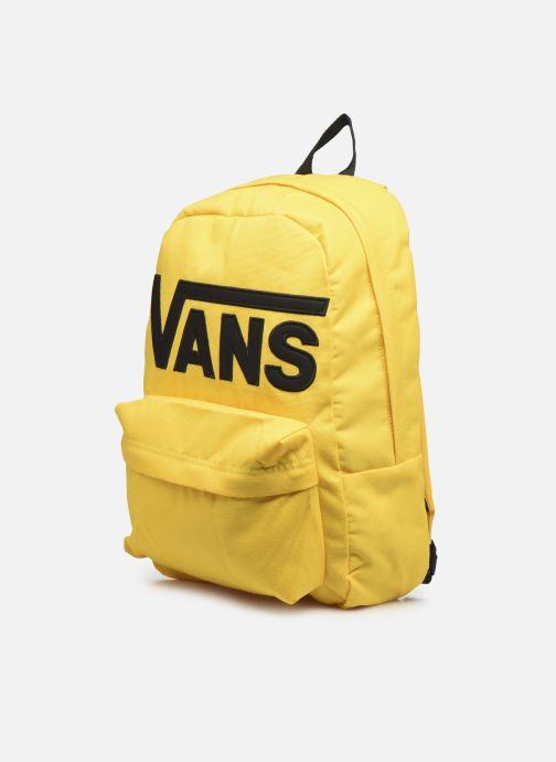 Rucksäcke Vans OLD SKOOL III gelb schuhe getragen