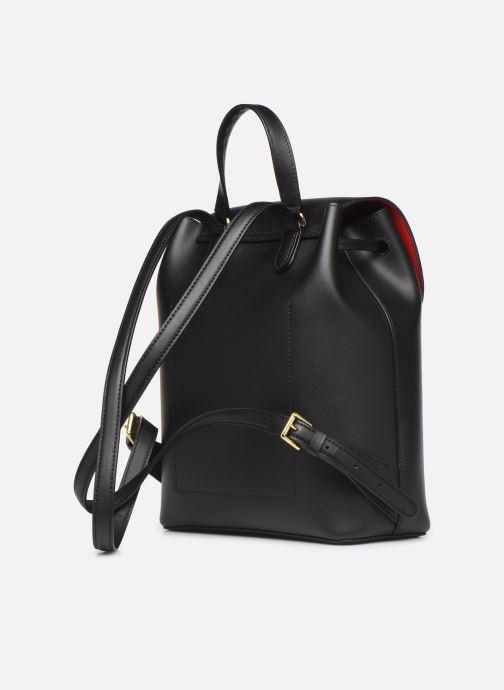 Sacs à dos Lauren Ralph Lauren FLAP BACKPCK-BACKPACK-MEDIUM Noir vue droite