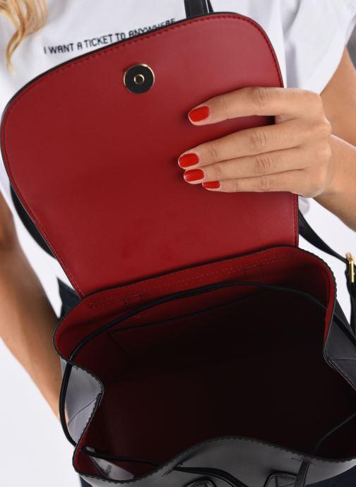 Sacs à dos Lauren Ralph Lauren FLAP BACKPCK-BACKPACK-MEDIUM Noir vue derrière