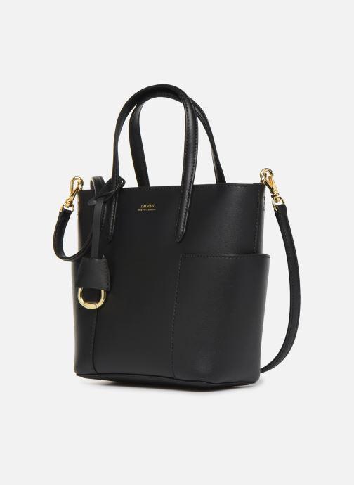 Bolsos de mano Lauren Ralph Lauren CARLYLE TOTE MINI Negro vista del modelo