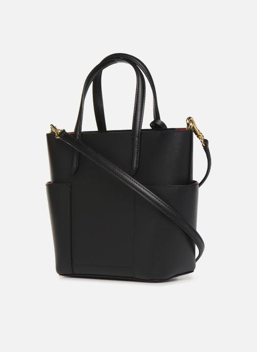 Handtaschen Lauren Ralph Lauren CARLYLE TOTE MINI schwarz ansicht von rechts