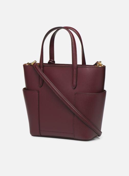 Handtassen Lauren Ralph Lauren CARLYLE TOTE MINI Bordeaux rechts