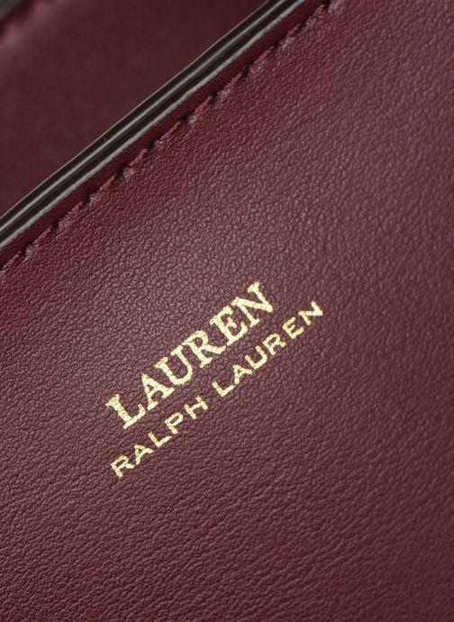 Sacs à main Lauren Ralph Lauren CARLYLE TOTE MINI Bordeaux vue gauche