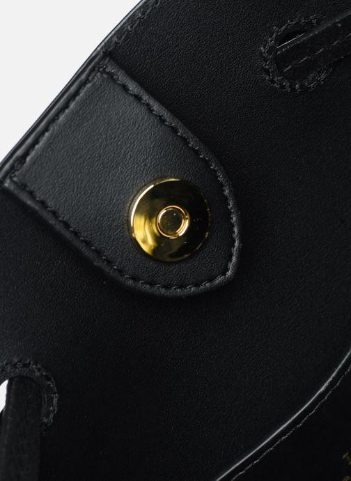 Handtassen Lauren Ralph Lauren DEBBY-DRAWSTRING-MEDIUM Zwart achterkant