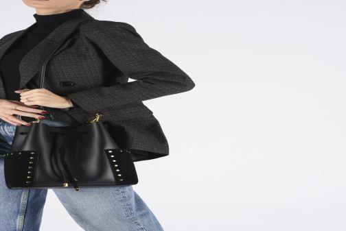 Handtassen Lauren Ralph Lauren DEBBY-DRAWSTRING-MEDIUM Zwart onder