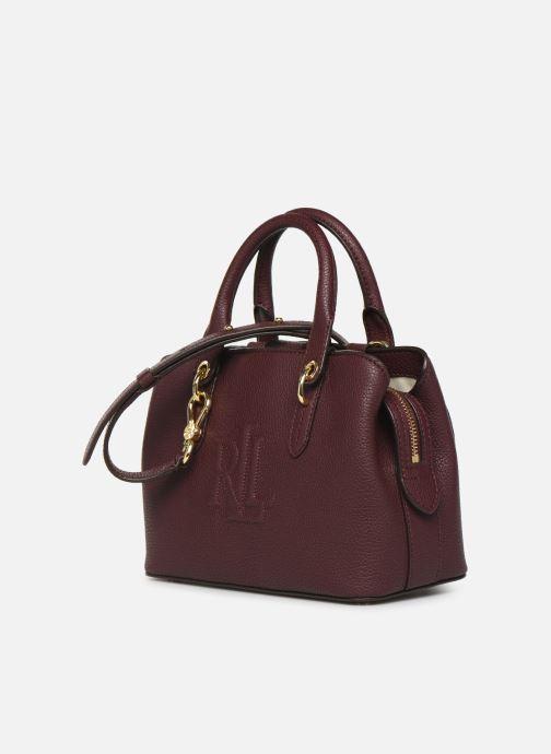 Sacs à main Lauren Ralph Lauren HAYWARD 23-SATCHEL-SMALL Bordeaux vue portées chaussures