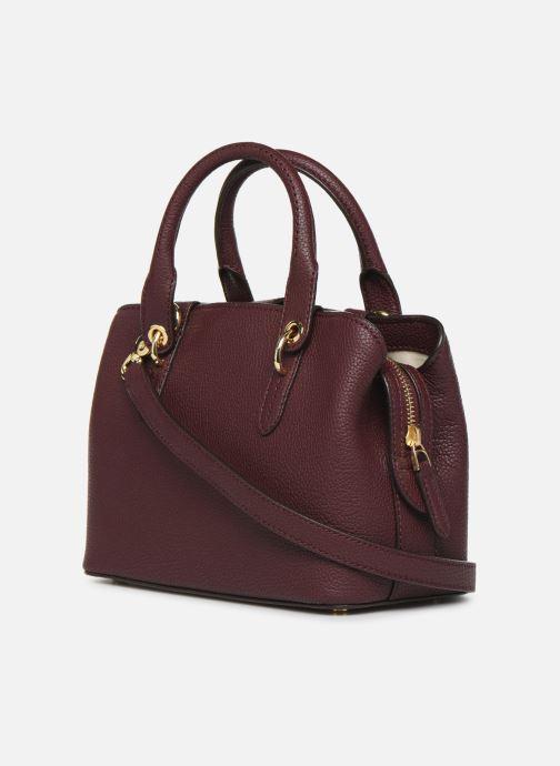 Handtaschen Lauren Ralph Lauren HAYWARD 23-SATCHEL-SMALL weinrot ansicht von rechts