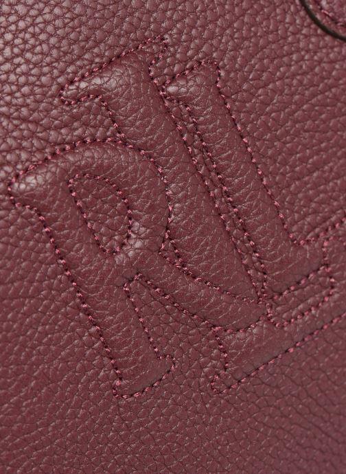 Handtaschen Lauren Ralph Lauren HAYWARD 23-SATCHEL-SMALL weinrot ansicht von links