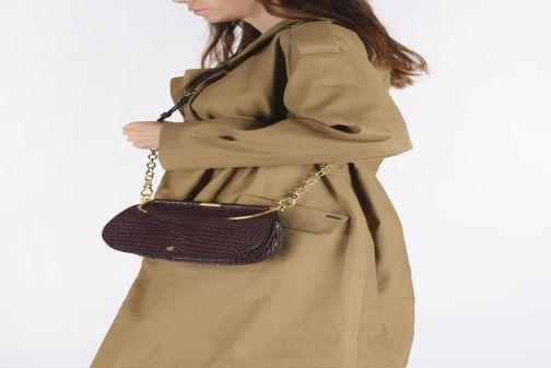 Handtassen Lauren Ralph Lauren MASON 20-SATCHEL-MINI Bordeaux onder