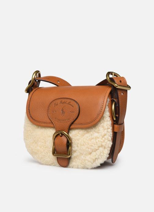 Handbags Polo Ralph Lauren SM HUTTON CROSSBODY SMALL Brown model view
