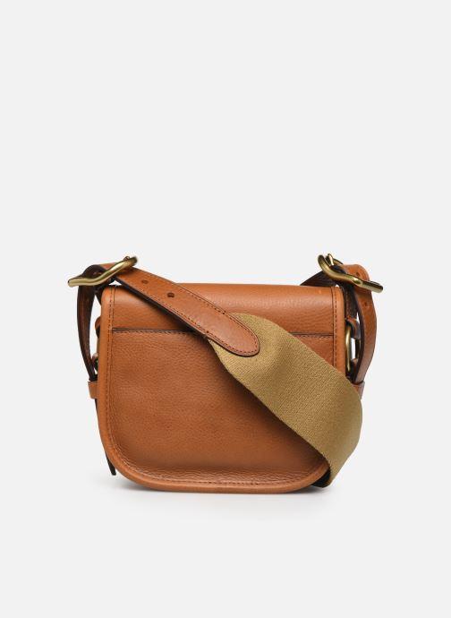 Handbags Polo Ralph Lauren SM HUTTON CROSSBODY SMALL Brown front view