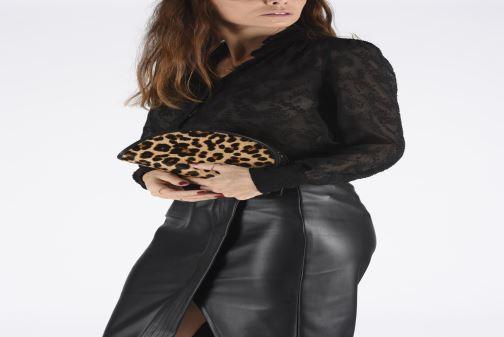 Handbags Polo Ralph Lauren HALF MOON XB-CROSSBODY SMALL Multicolor view from underneath / model view