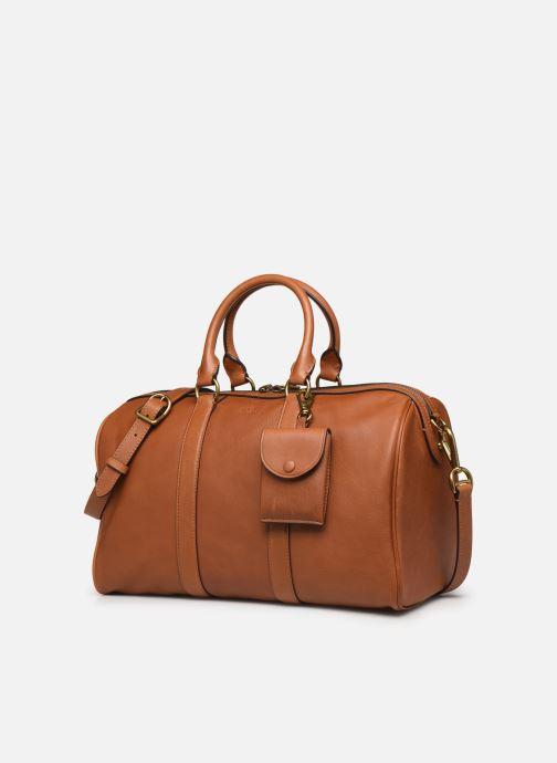 Bagages Polo Ralph Lauren SM DUFFLE SMALL Marron vue portées chaussures