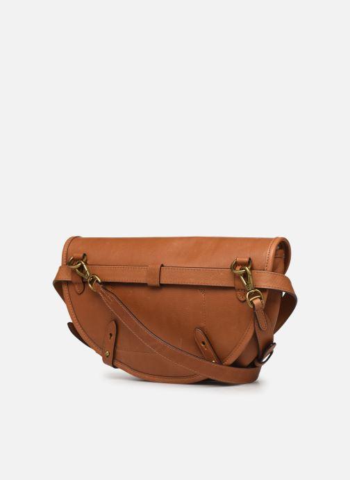 Handtassen Polo Ralph Lauren CONVERTIBLE BELT BAG CROSSBODY SMALL Bruin rechts