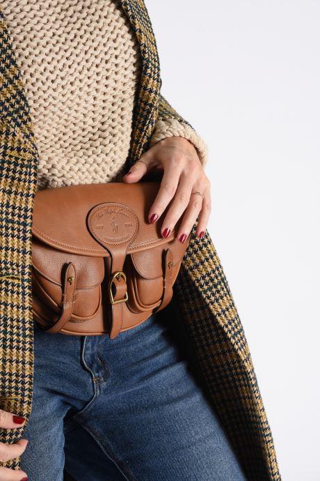 Handbags Polo Ralph Lauren CONVERTIBLE BELT BAG CROSSBODY SMALL Brown view from underneath / model view