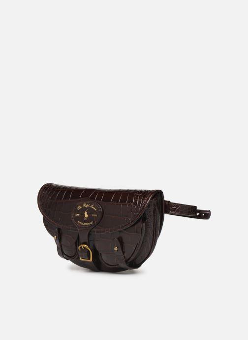 Bolsos de mano Polo Ralph Lauren CONVERTIBLE BELT BAG CROSSBODY SMALL Marrón vista del modelo