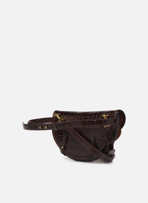 Sacs à main Polo Ralph Lauren CONVERTIBLE BELT BAG CROSSBODY SMALL Marron vue droite