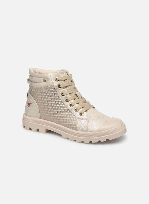 Ankelstøvler Mustang shoes 1160515 Hvid detaljeret billede af skoene