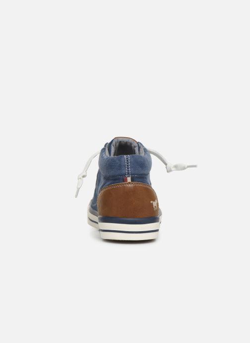 Baskets Mustang shoes 4072505 Bleu vue droite