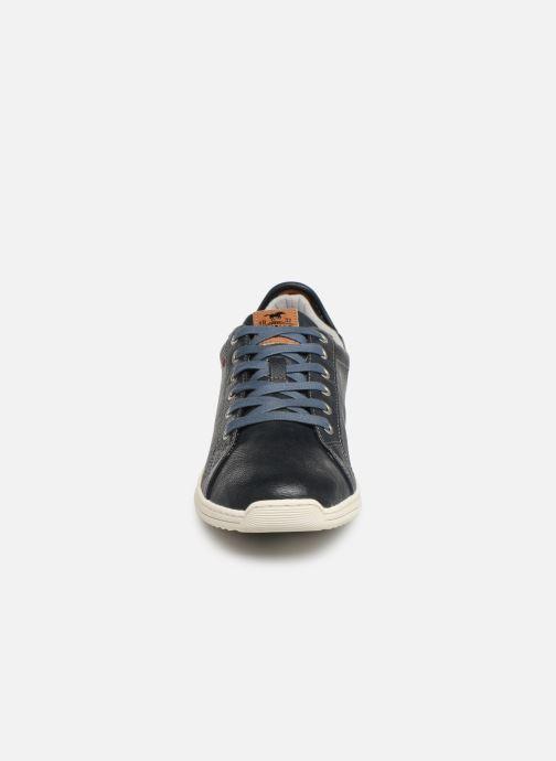 Sneaker Mustang shoes 4136303 blau schuhe getragen