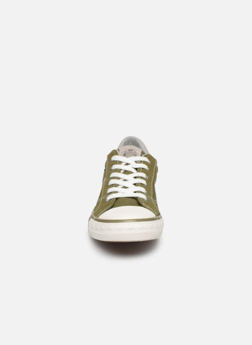Sneaker Mustang shoes 5024308 grün schuhe getragen