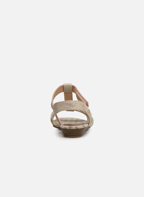 Sandales et nu-pieds Mustang shoes 5029812 Or et bronze vue droite