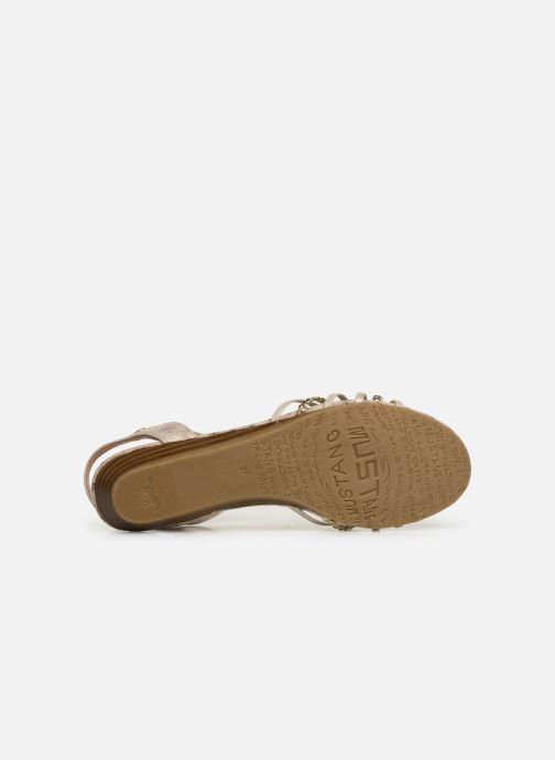 Sandales et nu-pieds Mustang shoes 5029812 Or et bronze vue haut