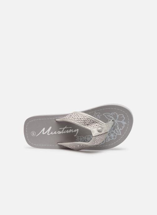 Zehensandalen Mustang shoes 5041705 grau ansicht von links