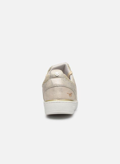 Baskets Mustang shoes 5053304 Or et bronze vue droite