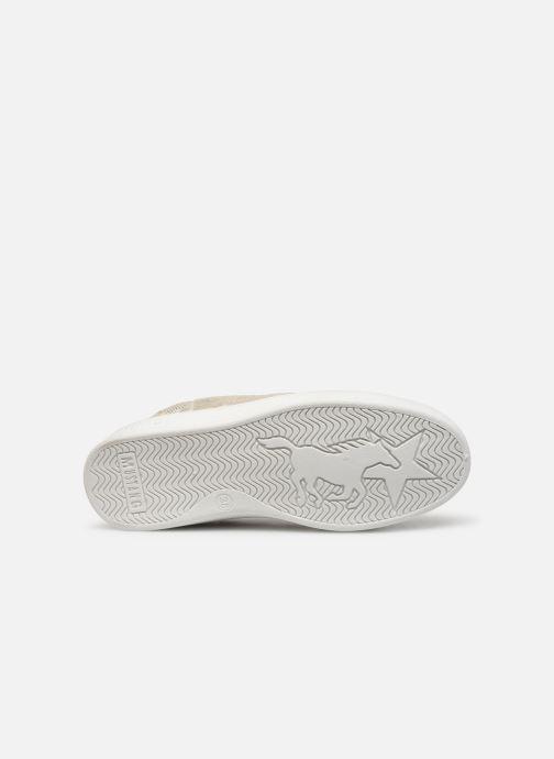 Baskets Mustang shoes 5053304 Or et bronze vue haut