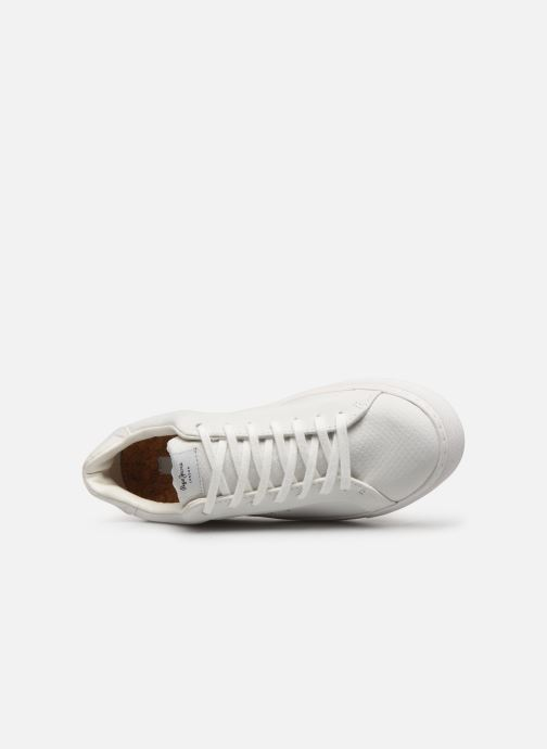 Trainers Pepe jeans Adams Samy C White view from the left