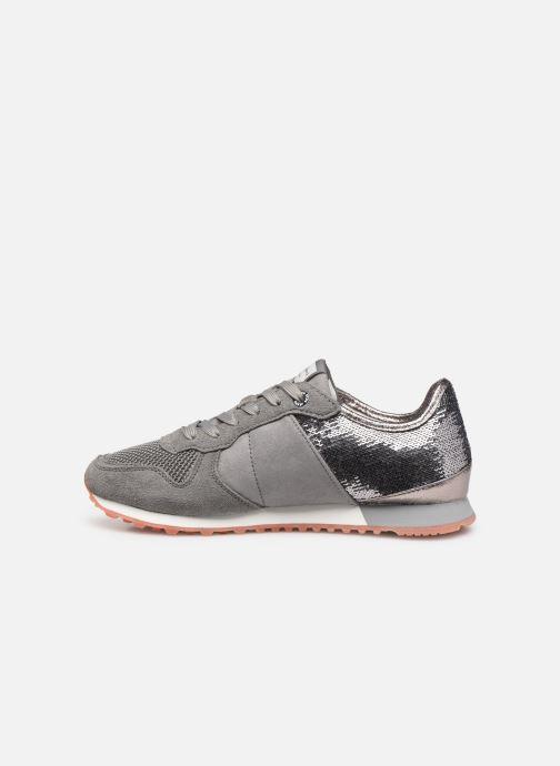 Sneaker Pepe jeans Verona W New Sequins C grau ansicht von vorne