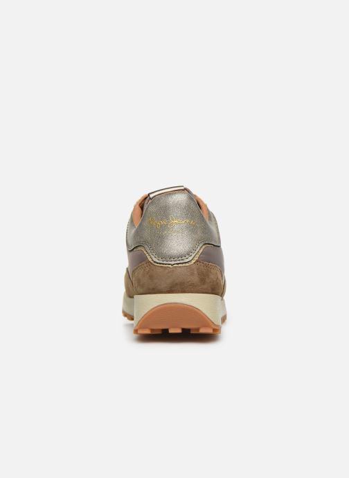 Baskets Pepe jeans Dean Bass C Or et bronze vue droite