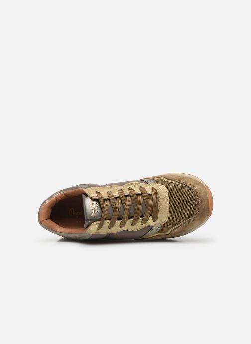 Baskets Pepe jeans Dean Bass C Or et bronze vue gauche